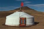 sleeping inside a yurt