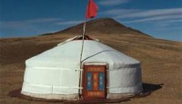 sleeping inside a yurt