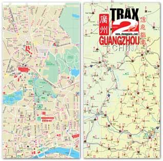 Guangzhou shopping map